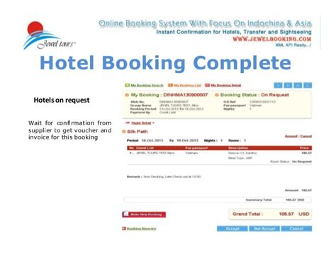how to use our online booking system on b2b page www