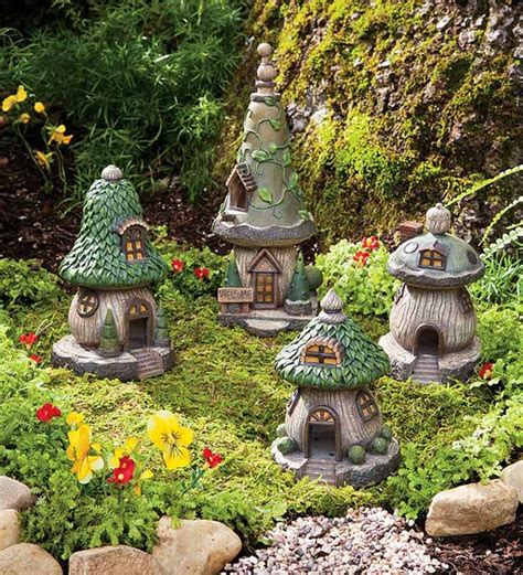fairy home decor definately want a gnome or fairy village in our yard