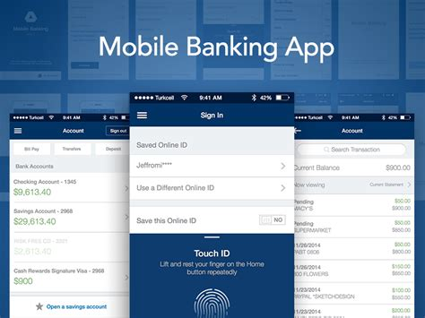 all mobile banking boa inspired mobile banking app sketch freebie