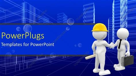 powerpoint templates for electrical engineering presentation powerpoint template agreement reached as engineer shake