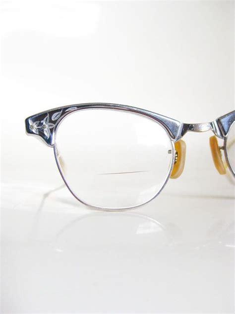 vintage 1950s eyeglasses craft cat eye glasses 50s