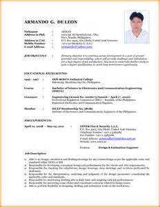 Curriculum Vitae New Format by New Curriculum Vitae Format 2016 Resume Template Example