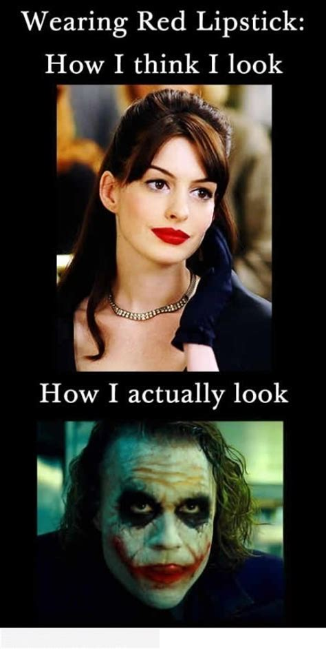 Red Lipstick Memes - wearing red lipstick