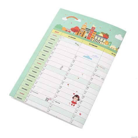 wall sticker paper practical 2017 calendar home month planner schedule paper