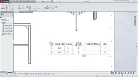 html tutorial table pdf adding in a weld table