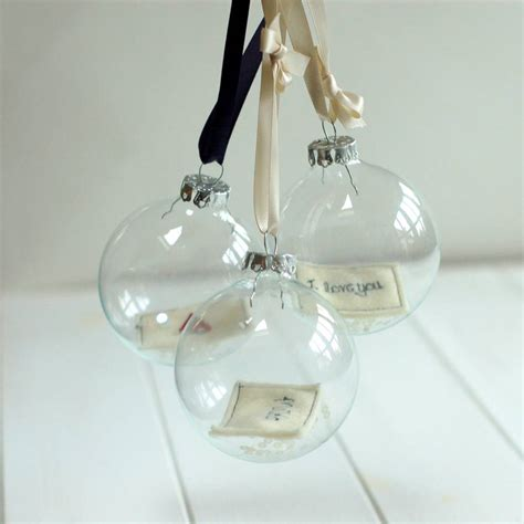 personalised glass bauble by handmade at poshyarns
