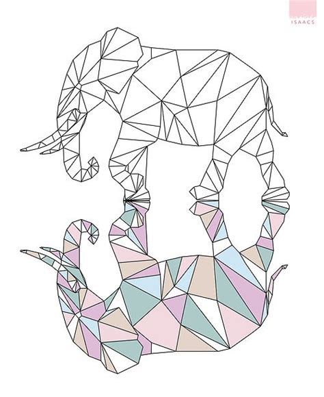 geometric elephant coloring pages day 154 geometric elephant he comes alive in the