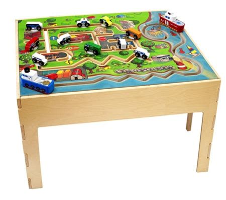 Train Set And Table For Toddlers - city transportation kids play table kids play furniture waiting room toys free shipping