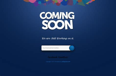 Comming Soon Template 30 free html5 website construction coming soon