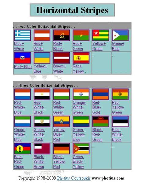 flags of the world horizontal stripes horizontal stripes flag identifier printable page