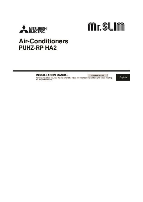 mitsubishi air conditioner installation mitsubishi mr slim puhz rp ha2 air conditioner