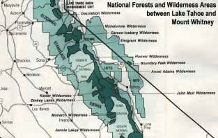 maps of eldorado national forest california