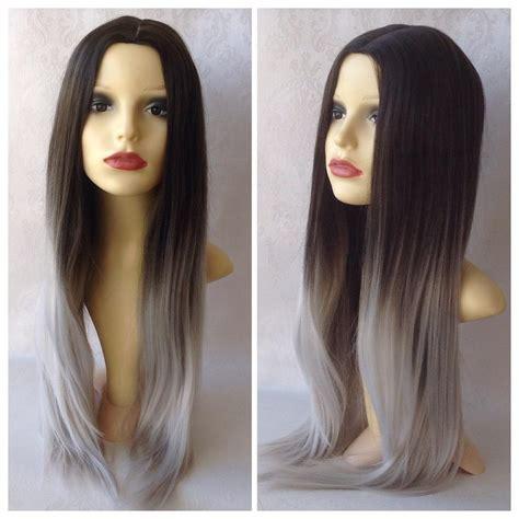 Tendencies Kaos Grey White Dip Dye golden brown hair ombre with grey search hair golden brown hair brown