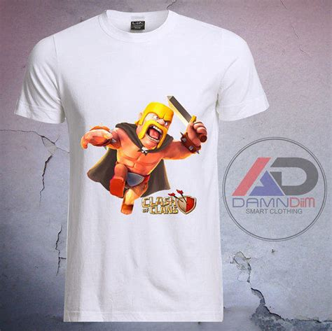 Barbarian Warrior T Shirt Size M clash of clans barbarian clash of clans from damndiim on etsy