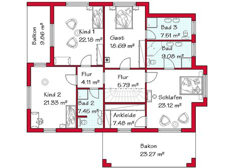 grundriss haus 4 schlafzimmer einfamilienhaus grundriss 3 kinderzimmer emphit