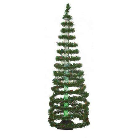 4 ft spiral christmas trees at walmart 6 pre lit color changing green spiral tree multi lights walmart