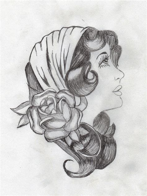 gypsy head tattoo designs by sara7x on deviantart