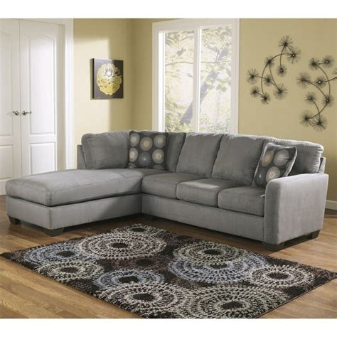 ashley furniture sofa sectionals ashley furniture zella microfiber sofa sectional in