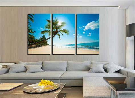 canvas decorations for home not framed home decor canvas print hawaii seascape coconut