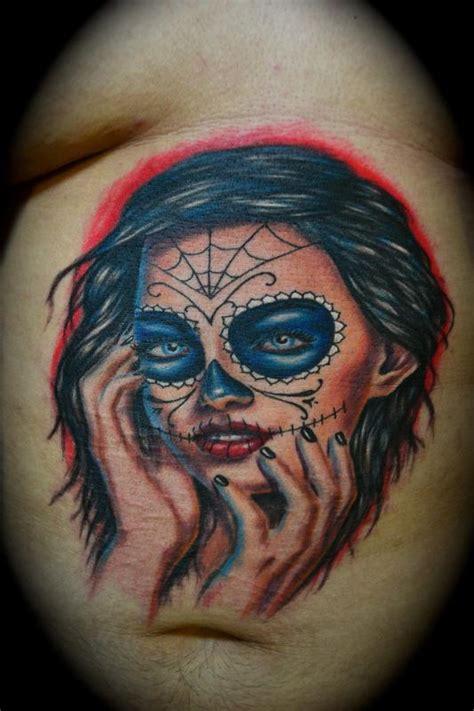 Award Winning Day Of The Dead Girl By Ryan El Dugi Lewis Award Winning Tattoos Gallery
