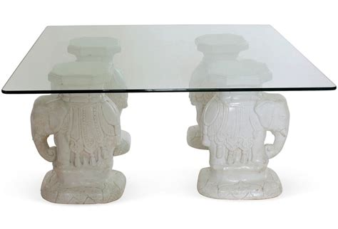 Elephant Glass Coffee Table Elephant Glass Coffee Table Brass Elephant Base Coffee Table Coffee Tables Salibello Elephant