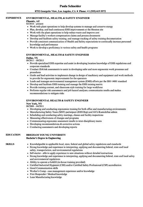 ergonomic assessment report template ehs engineer resume contemporary exle resume