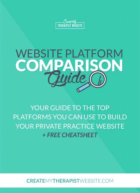 comparison website website platform comparison guide websites for therapists