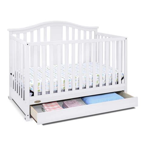 convertible crib with drawer graco solano 4 in 1 convertible crib with drawer in white