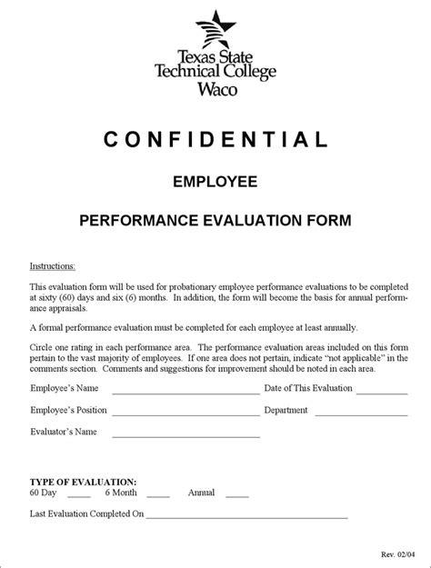 employee performance evaluation form employee performance evaluation form for free