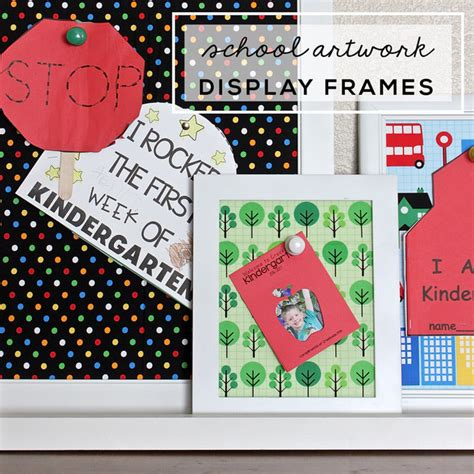 Thirty Handmade Days - school artwork display frames thirty handmade days