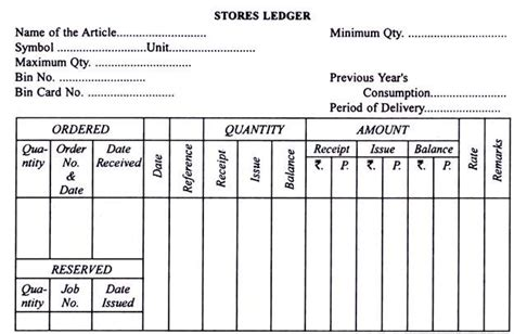 stock record card template inventory stock taking records and forms used with