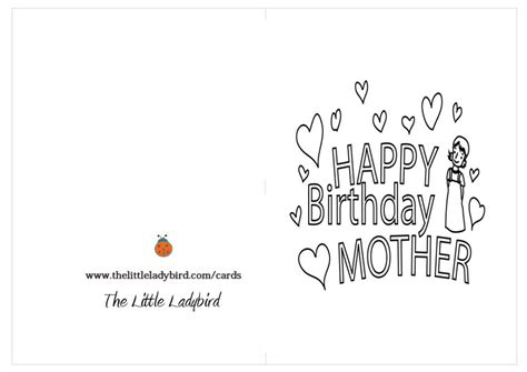 printable happy birthday mother cards printable coloring birthday cards for mom printable happy