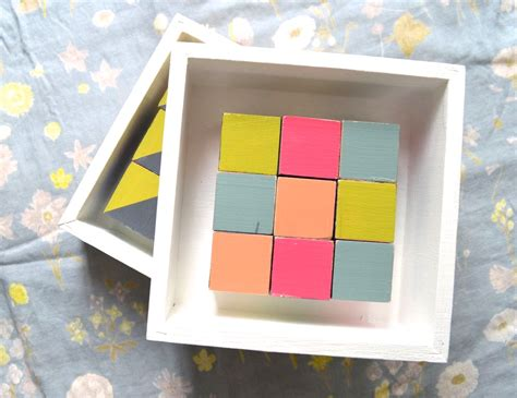 Painted Quilt Squares by Wooden Quilt Blocks A Happy Stitch