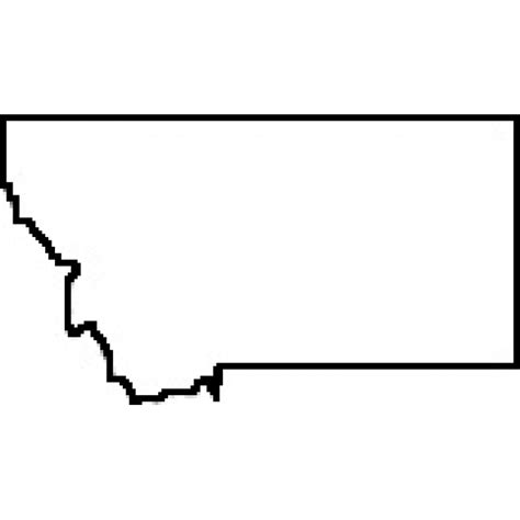 Montana Map Outline by State Of Montana Outline Map Rubber St