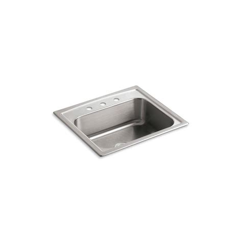 kohler toccata sink reviews kohler toccata drop in stainless steel 25 in 3 hole
