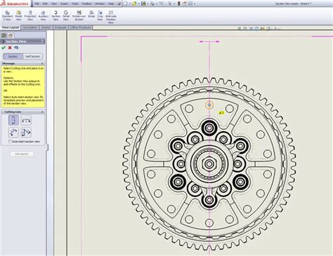 aligned section view solidworks solidworks 2013 highlight section view assist tool the