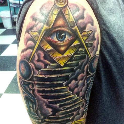 all seeing eye tattoo design 12 masonic tattoos that will your mind