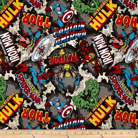Low Country Home Decor by Marvel Comics The Avengers Comic Burst Tan Discount