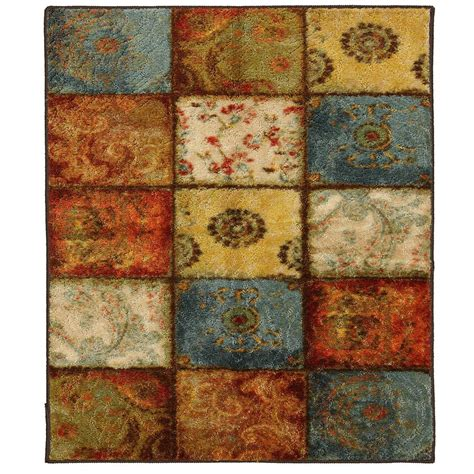 square area rugs 10 x 10 mohawk home artifact panel multi 10 ft x 10 ft square area rug 512743 the home depot