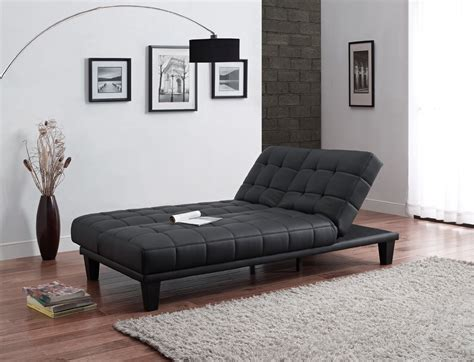 sofa lounger julia convertible futon sofa bed with chaise lounger black