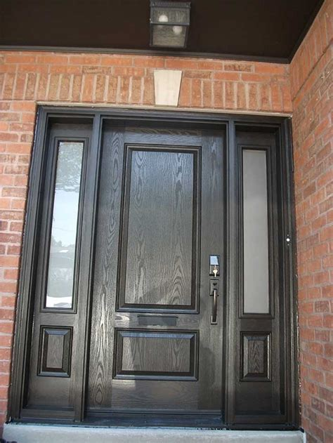 Single Exterior Door Woodgrain Exterior Doors Woodgrain Doors Front Entry Doors Wood Grain Single Solid Door