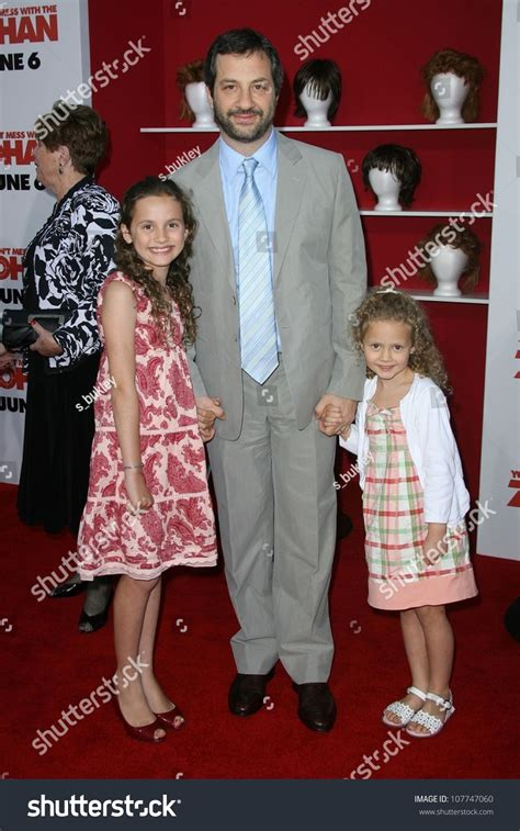 judd apatow zohan judd apatow with daughters maude and iris at the quot you don