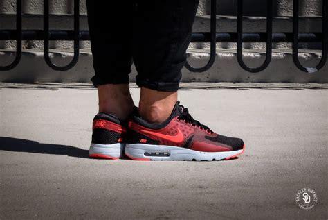 Air Max 1 Essential Rot 1600 by Nike Air Max Zero Essential Black Bright Crimson 876070 007