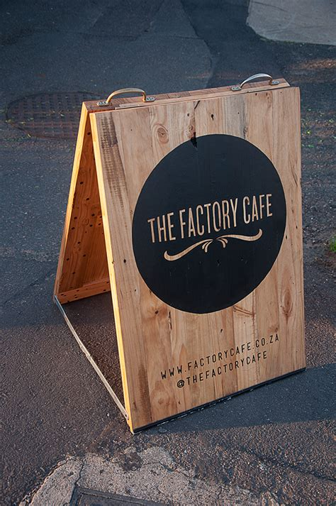 design a cafe sign the factory cafe street sign on behance
