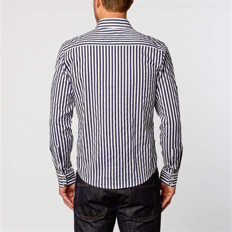 Blouse Medium Stripe medium stripe button up shirt navy s caviar dremes touch of modern