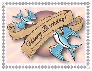 50s birthday card birthday card happy birthday swallows style