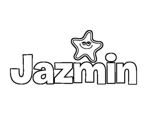 imagenes que digan jazmin dibujo de jazmin para colorear dibujos net