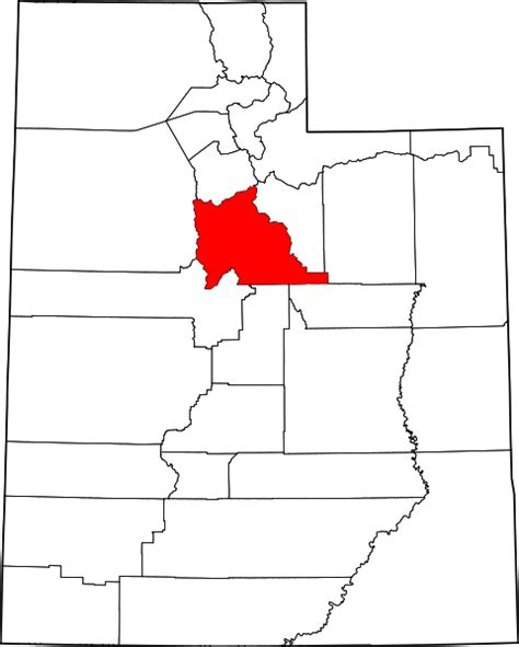 Utah County Search File Map Of Utah Highlighting Utah County Svg Facts For Kidzsearch