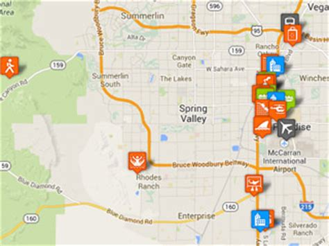 grand map points of interest las vegas tourist map with points of interest family