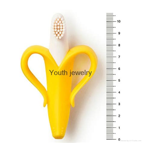 Silicone Banana Teether Toothbrush 2 In 1 silicone banana toothbrush high quality and